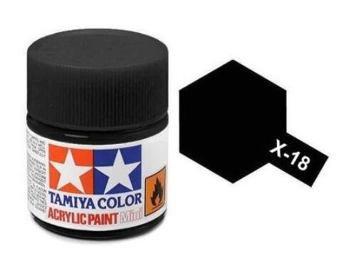 Tamiya AcrMini X-18 Black Semi Gloss (81518)
