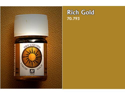 Vallejo Model Color 214 Rich Gold Liquid Gold 70.793
