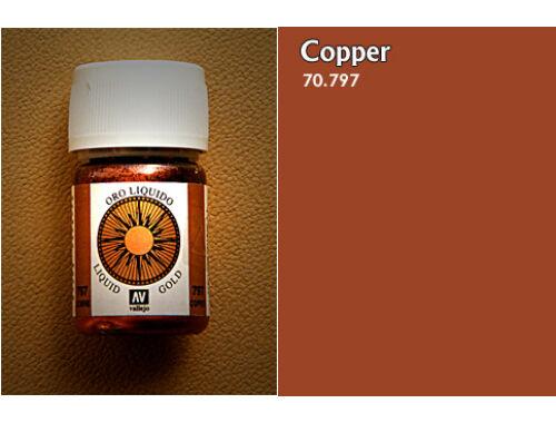 Vallejo Model Color 218 Copper Liquid Gold 70.797