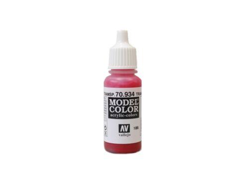 Vallejo Model Color 186 Transparent Red 70.934