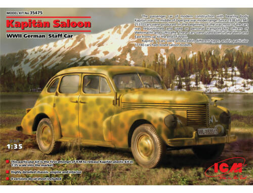 ICM Captain Saloon WWII German Staff Car 1:35 (35475)
