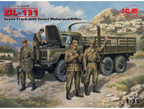 ICM ZiL-131, Soviet Truck with Soviet Motorized Rifles 1:35 (35516)