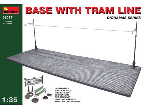 Miniart Base with Tram Line 1:35 (36057)