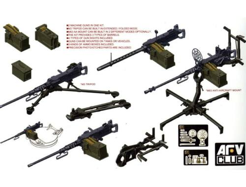 AFV Club U.S. M2HB .50 Cal Machine Gun Set 1:35 (AF35246)