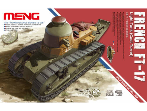 Meng French FT-17 Light Tank(Cast Turret) 1:35 (TS-008)