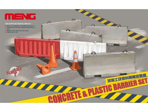 Meng Concrete   plastic barrier set 1:35 (SPS-012)