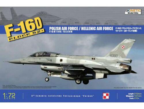 Kinetic F-16D Block52  Hellenic   Polish Air Force 1:72 (72002)