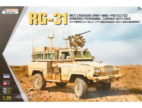 Kinetic RG-31 MK3 Canada Army W/Crows 1:35 (61010)