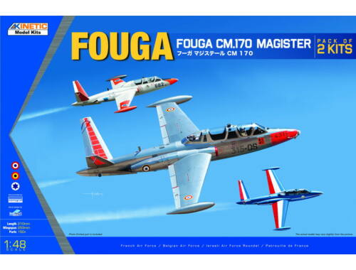 Kinetic Fouga Magister CM.170 Pack of 2 kits 1:48 (48059)