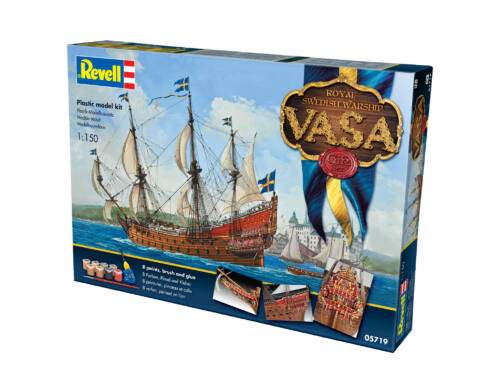Revell Gift Set Royal Swedish Warship 'VASA' 1:150 (5719)