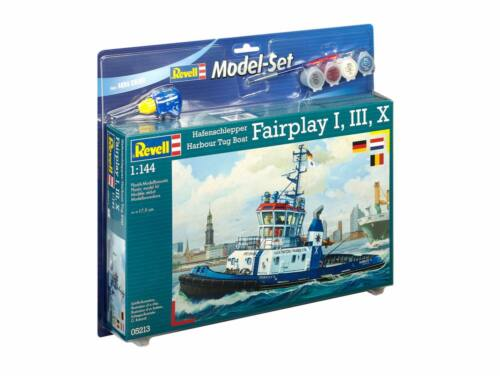 Revell Model Set Harbour Tug Boat 'Fairplay' I, III, X 1:144 (65213)