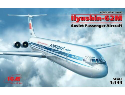 ICM Ilyushin-62M Passenger Aircraft 1:144 (14405)