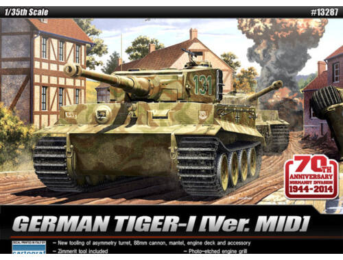 Academy Tiger I Mid 70th Anniversary 1944 1:35 (13287)