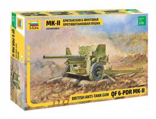 Zvezda British 6 PDR MK-II gun 1:35 (3518)
