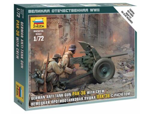 Zvezda German Anti-Tank Gun PAK-36 with Crew 1:72 (6114)