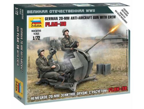 Zvezda German 20 mm Anti-Aircraft Gun with Crew 1:72 (6117)