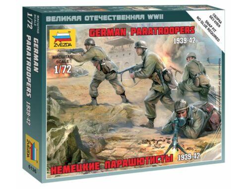 Zvezda German Paratroopers 1939-1942 1:72 (6136)