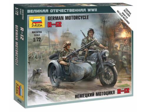 Zvezda German Motorcycle R-12 1:72 (6142)