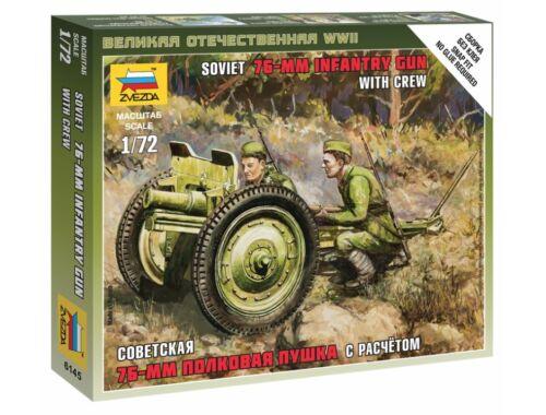 Zvezda Soviet 76-mm Gun 1:72 (6145)