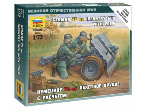 Zvezda German 75-mm Infantry Gun 1:72 (6156)