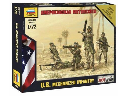 Zvezda Amerikai motorizált gyalogság 1:72 (7407)