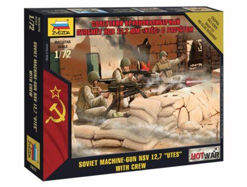 Zvezda Soviet Machine gun 'Utes' (Mini kits) 1:72 (7411)
