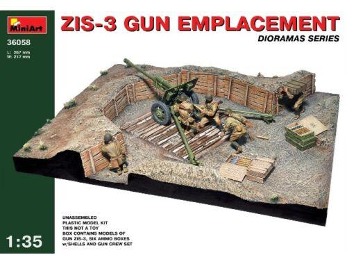 Miniart ZIS-3 Gun Emplacement 1:35 (36058)