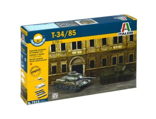 Italeri T-34/85 2in1 Fast Assembly Kit 1:72