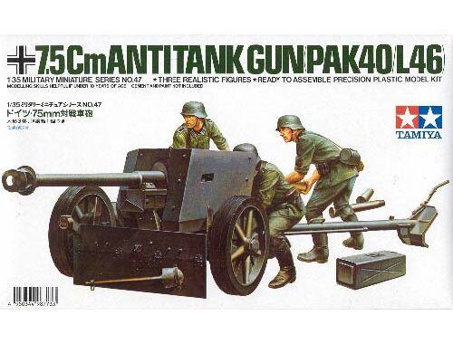 Tamiya German 7,5cm Anti Tank Gun PAK40/L46 1:35 (35047)
