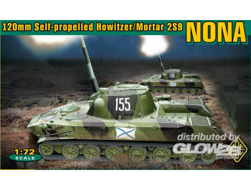 ACE 120 mm SPH Mortar 2S9 NONA 1:72 (ACE72113)
