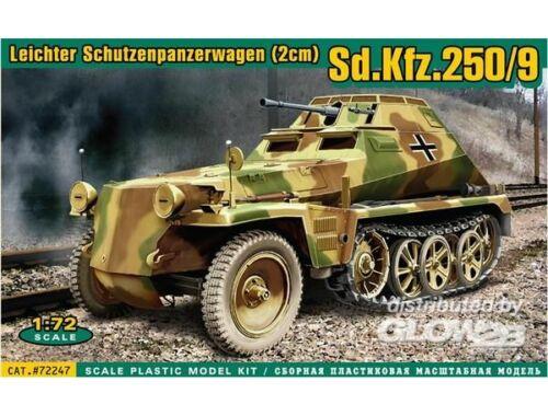 ACE Sd.Kfz.250:9 Leicht. Schützenp.wagen2cm 1:72 (ACE72247)