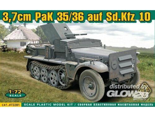 ACE 37 mm PaK 35:36 auf Sd.Kfz 10 1:72 (72281)