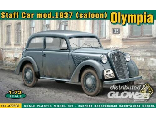 ACE Olympia saloon staff car, model 1937 1:72 (72506)