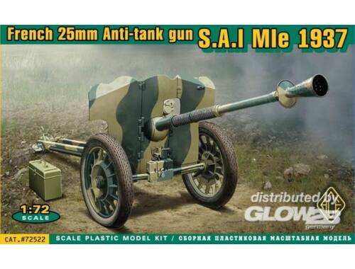 ACE S.A/I Mle 1937 French 25mm anti-tank gun 1:72 (72522)