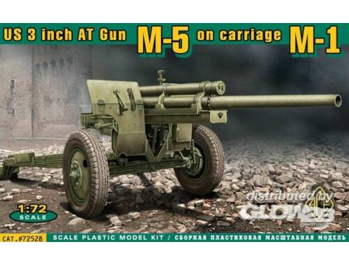 ACE U.S. 3inch anti-tank gun M-5 on carriage 1:72 (72528)