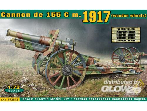 ACE Cannon de 155 C m.1917 wooden wheels 1:72 (72543)