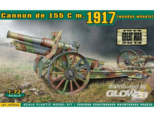 ACE Cannon de 155 C m.1917 wooden wheels 1:72 (72543)