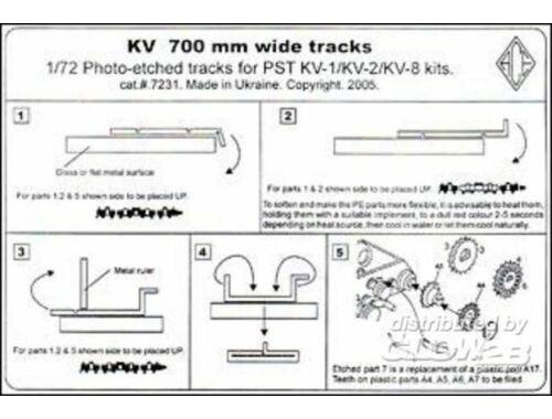 ACE KV 700mm wide tracks 1:72 (PE7231)