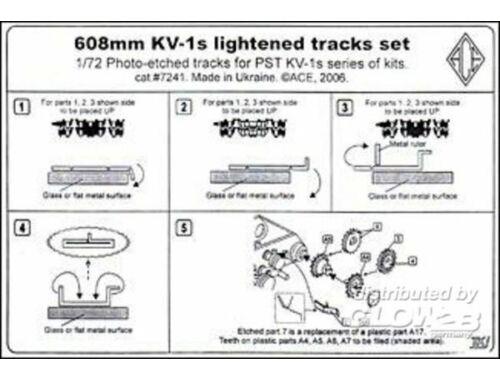 ACE KV-1s 608mm lightened tracks set 1:72 (PE7241)