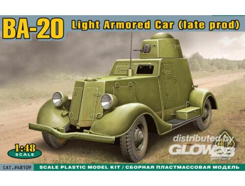 ACE BA-20 light armored car,late prod. 1:48 (48109)