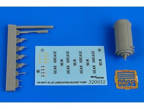 Aerobonus 35lB.lubricating bucket pump NAVY 1:32 (320052)