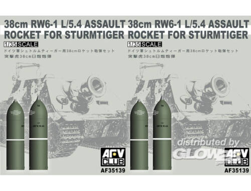 AFV Club 38cm RW61 rocket set for Sturmtiger 1:35 (AF35139)