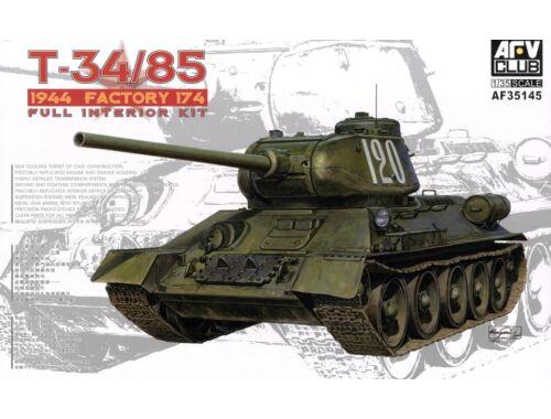 AFV Club T34/85 Model 174 Factory(Full interiorKi 1:35 (AF35145)