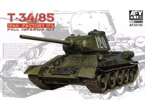 AFV Club T34/85 Model 174 Factory(Full interiorKi 1:35 (AF35145)