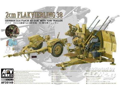 AFV Club 4X2cm Flakvierling 38 with trailer 1:35 (AF35149)