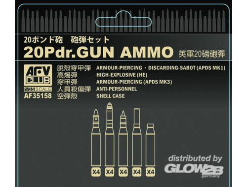 AFV Club British 20 pdr ammo set 1:35 (AF35158)
