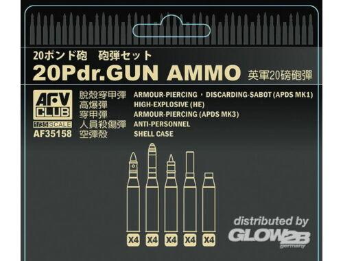 AFV Club British 20 pdr ammo set 1:35 (AF35158)