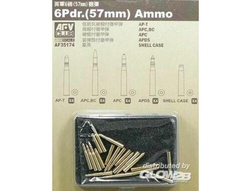 AFV Club 20 Pdr ammo (57mm) 20 assorted pcs. 1:35 (AF35174)