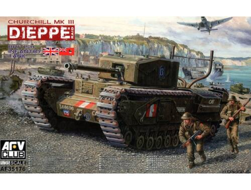 AFV Club Churchill Mk.3 (Dieppie)Includ. Workable 1:35 (AF35176)