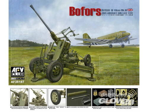 AFV Club British Vers.of Bofors 40mm MKIII AA Gun 1:35 (AF35187)
